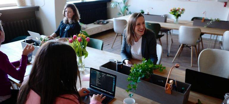 women sitting in an office