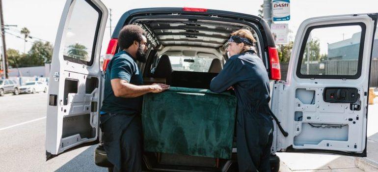 movers West Virginia loading a van