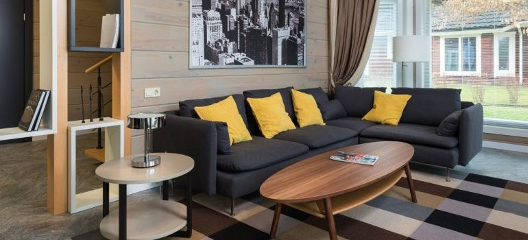 sofa in an apartment
