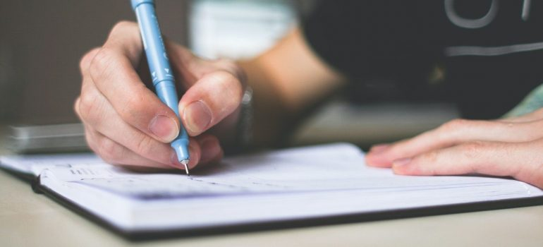 A list and a pen