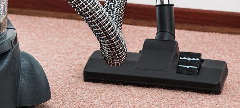 vacuum cleaner on the carpet