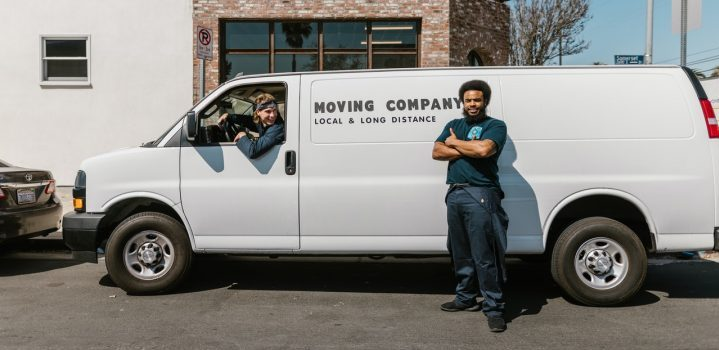 Two men from the moving company