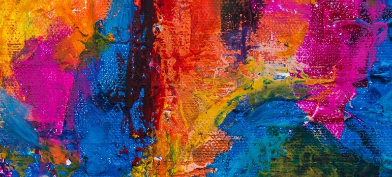 abstract multicolored painting