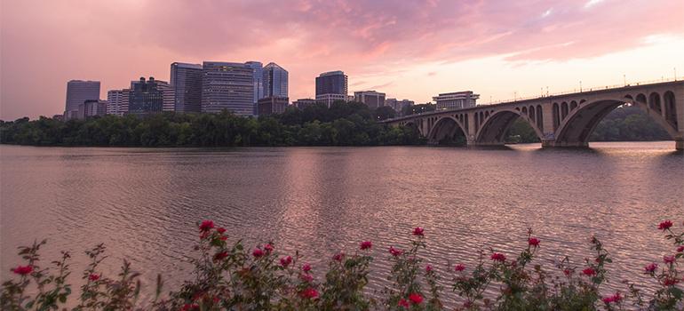 Arlington across the river