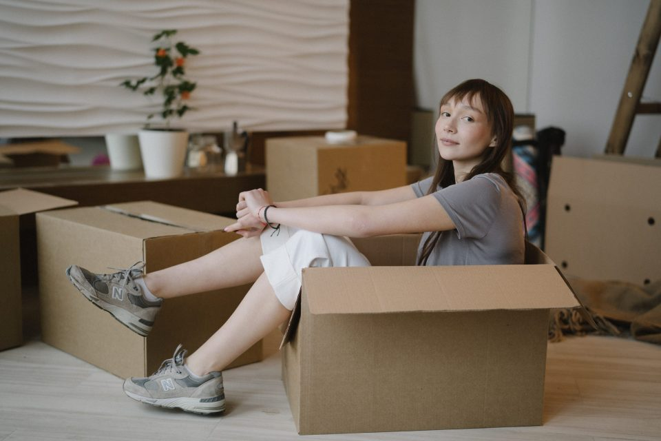 person taking it easy before her Montgomery County relocation
