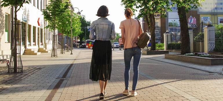 A pair walking