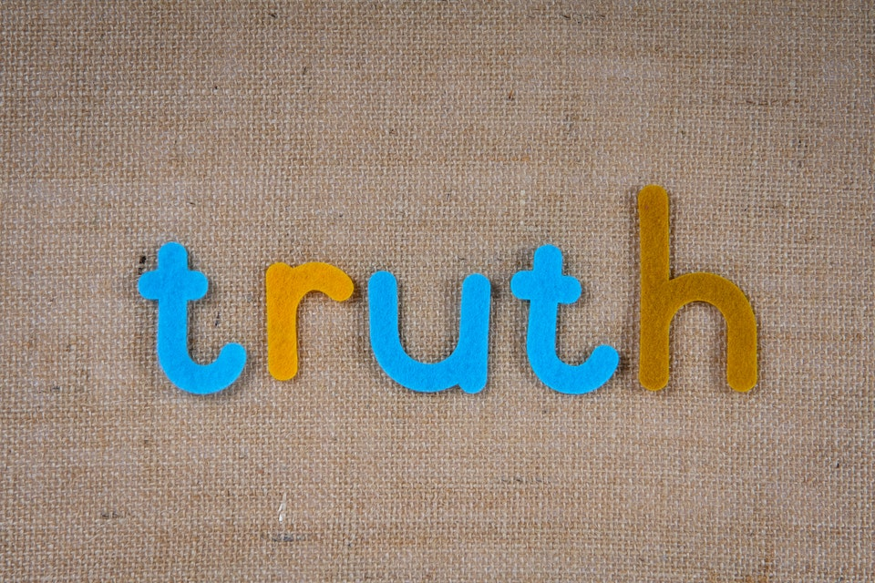 letters spelling truth