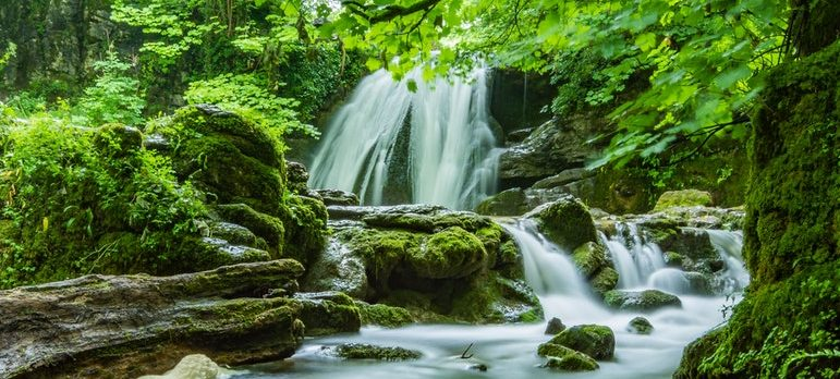 waterfall and streams